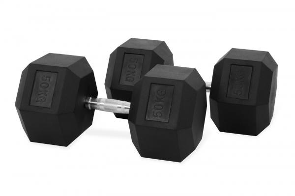 Jednoruční činka HEXA 50 kg pár