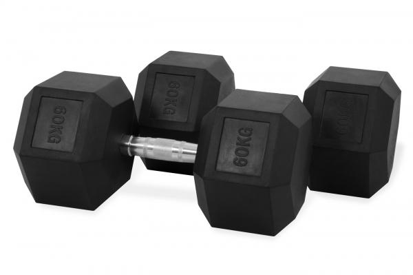 Jednoruční činka HEXA 60 kg pár