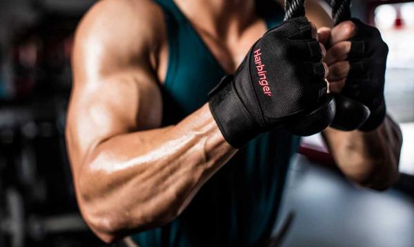 Fitness rukavice Pro Wrist Wrap HARBINGER workout 2
