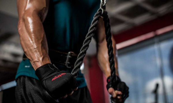 Fitness rukavice Pro Wrist Wrap HARBINGER workout 3