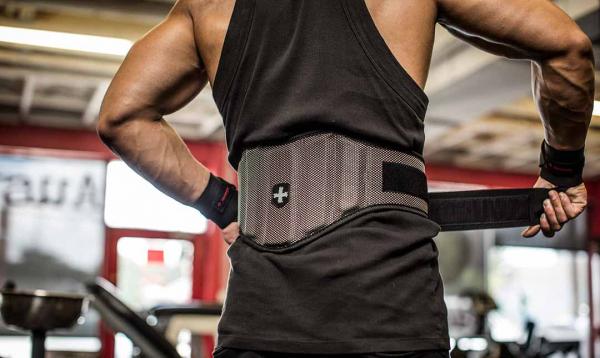 Fitness opasek nylonový HARBINGER FirmFit zezadu