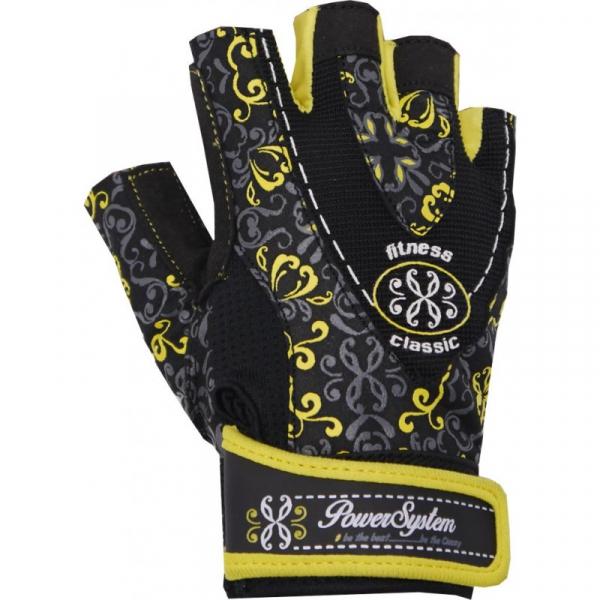 Dámské fitness rukavice POWER SYSTEM Classy žluté