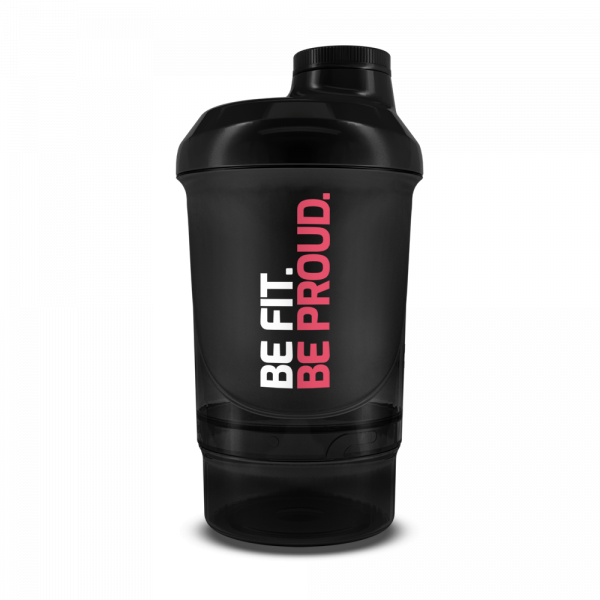 BIOTECH USA Shaker WAVE+ NANO For Her 300 ml (+150 ml) černý