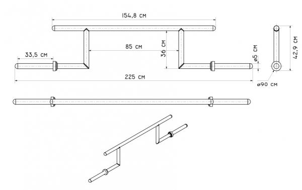 CAMBERED SQUAT BAR MF-G011 parametry