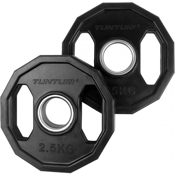 Kotouč olympijský pogumovaný hranatý TUNTURI 2,5 kg