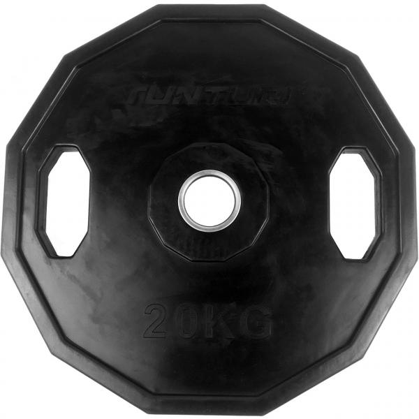Kotouč olympijský pogumovaný hranatý TUNTURI 20 kg