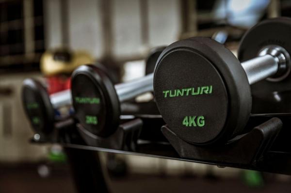 Sada jednoručních činek TUNTURI Pro 14-32 kg (5 párů)