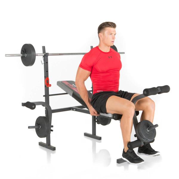 Posilovací lavice na bench press Hammer Bermuda předkopávání