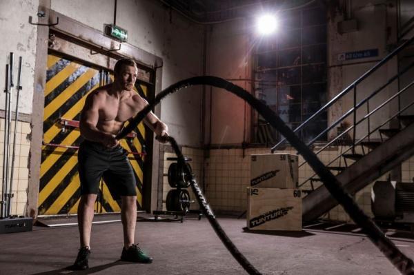 Posilovací lano Battle Rope TUNTURI Pro v obalu man