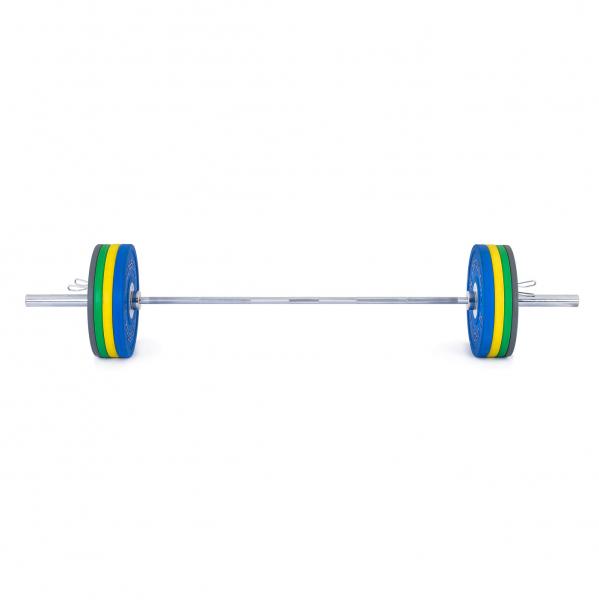 Olympijská činka TRINFIT 120 kg Bumper CrossGym přední