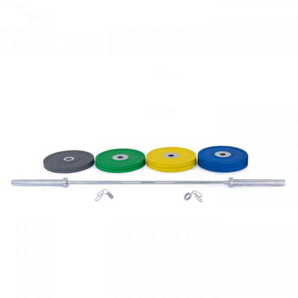 Olympijská činka TRINFIT 120 kg Bumper CrossGym složení