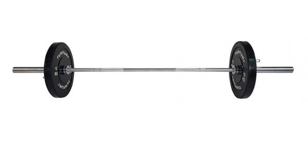 Olympijská tyč TUNTURI Cross Fit 220cm, 20 kg, 28 mm naložená činka