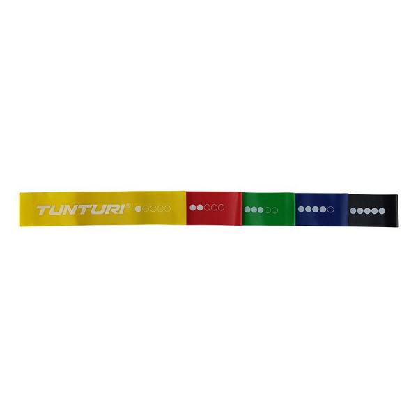 Posilovací guma TUNTURI sada - 5 ks detail