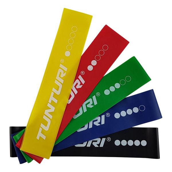 Posilovací guma TUNTURI sada - 5 ks set
