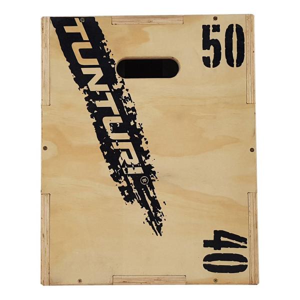 Plyometrická bedna dřevěná TUNTURI Plyo Box bok 2