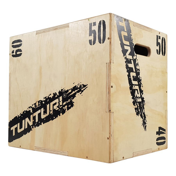 Plyometrická bedna dřevěná TUNTURI Plyo Box uhel 4