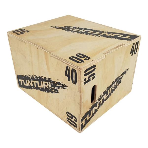 Plyometrická bedna dřevěná TUNTURI Plyo Box uhel 7