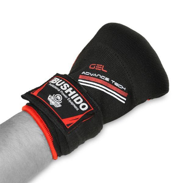 Gelové rukavice DBX BUSHIDO červené pěst