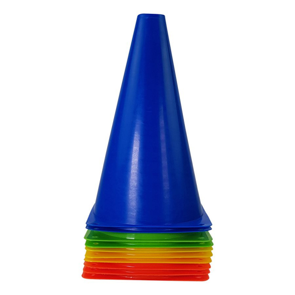 Plastové tréninkové kužely TUNTURI - 10 ks modrý