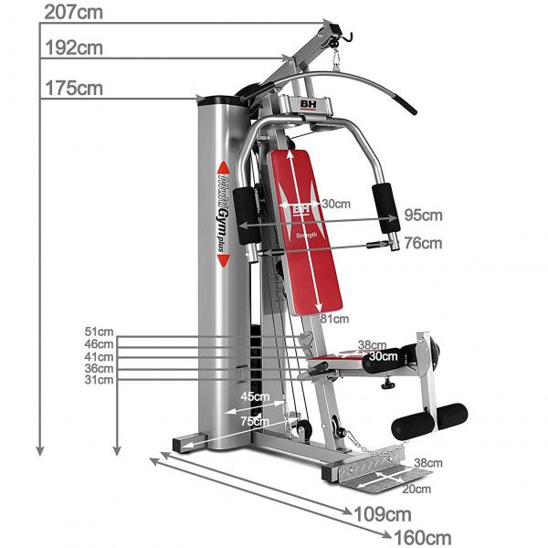 bh fitness multigym plus rozměry
