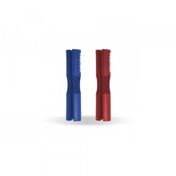 Obal na osu - pěnový barbell pad MADMAX červený modrý
