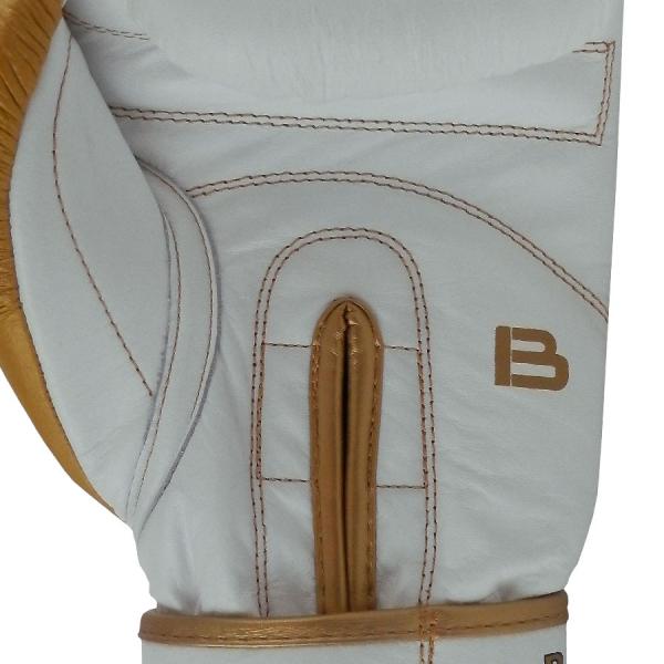 Boxerské rukavice kůže Royal BAIL bílé detail 1