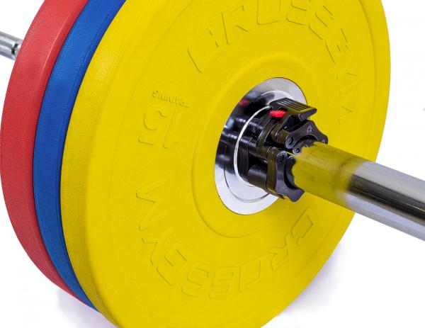 Kotouče bumper plate cross gym naložené