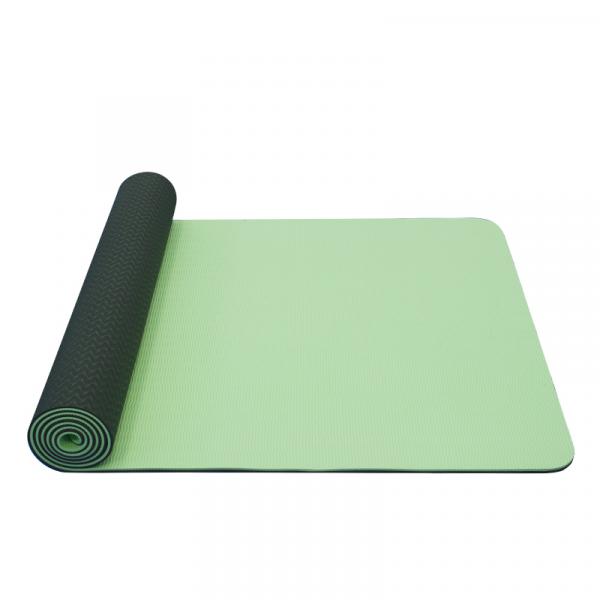 Jóga podložka TPE dvouvrstvá tmavě zelená světle zelená
