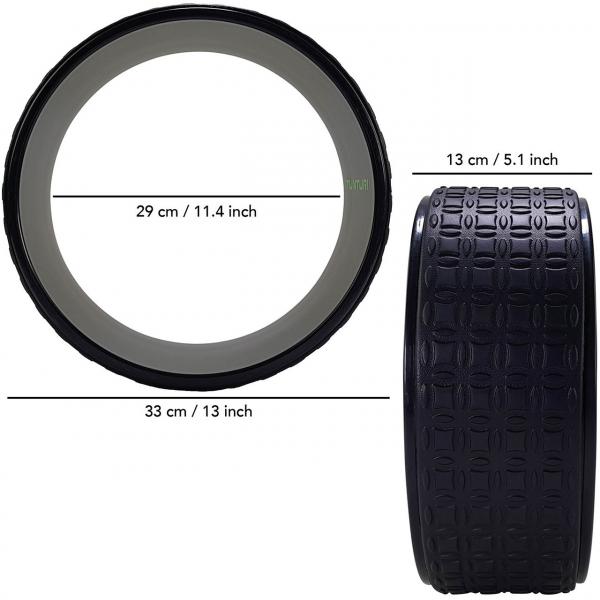 Jóga kolečko yoga wheel EVA TUNTURI černé 33 cm rozměry