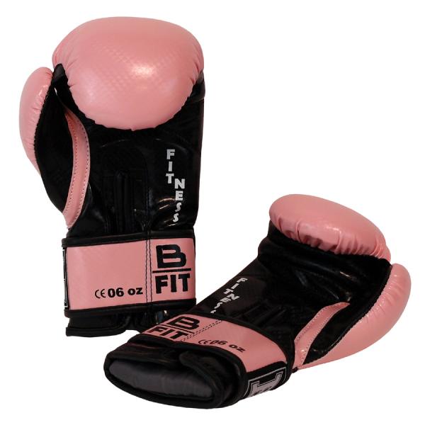 Boxerské rukavice dětské B-fit BAIL světle růžové zezadu