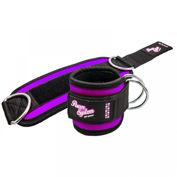 Kotníkové adaptéry Ankle Straps POWER SYSTEM fialový