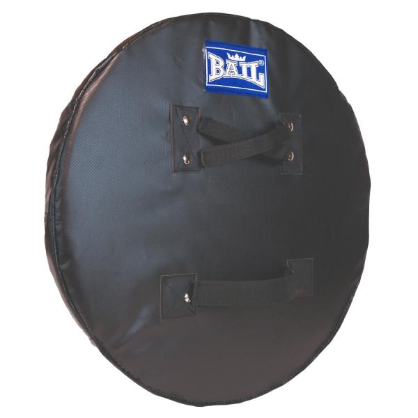 Rytířský štít - kulatý 50 cm BAIL černý zezadu