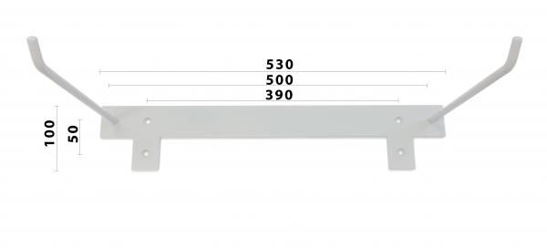 X-GYM držák na podložky 50 cm - rozměry