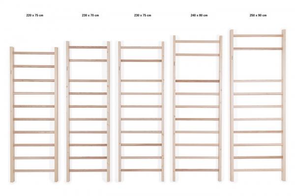 Dřevěné žebřiny Fitham LUX_sestava