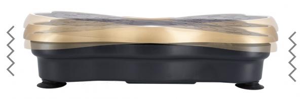 Vibrační deska HMS SVP01 SKY zlatá vibrace