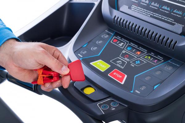 Běžecký pás Housefit Spiro 90 iRun bezpečnostní stop pojistka
