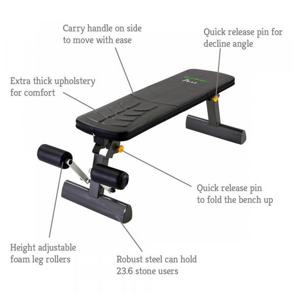 Tunturi Pure Flat bench popis