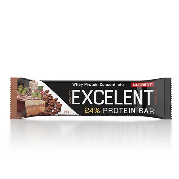NUTREND Excelent protein bar DOUBLE 85 g brazilská káva s kofeinem