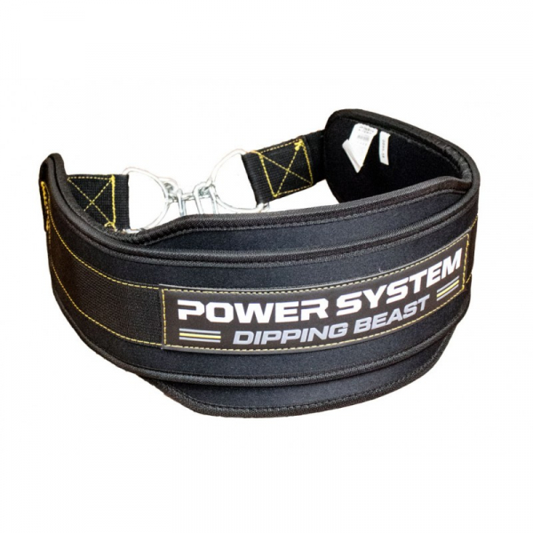 Fitness opasek Dipping Beast POWER SYSTEM žluzý