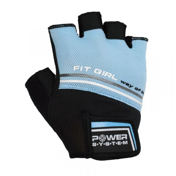 Fitness rukavice Fit Girl Evo tyrkys single