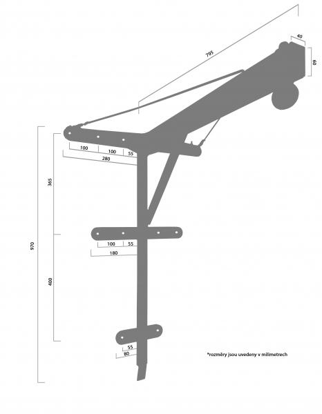 APRIORI šibenice PROFI pevná - rozměry