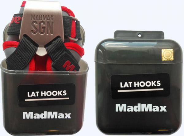 Posilovací háky Metallic Lat Hooks MADMAX balení