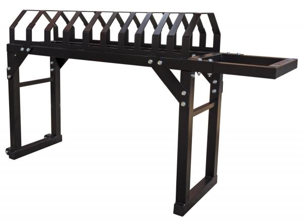 STRENGTHSHOP Stojan na kotouče Bumper Plate Toast rack Platform - pohled bez kotoučů