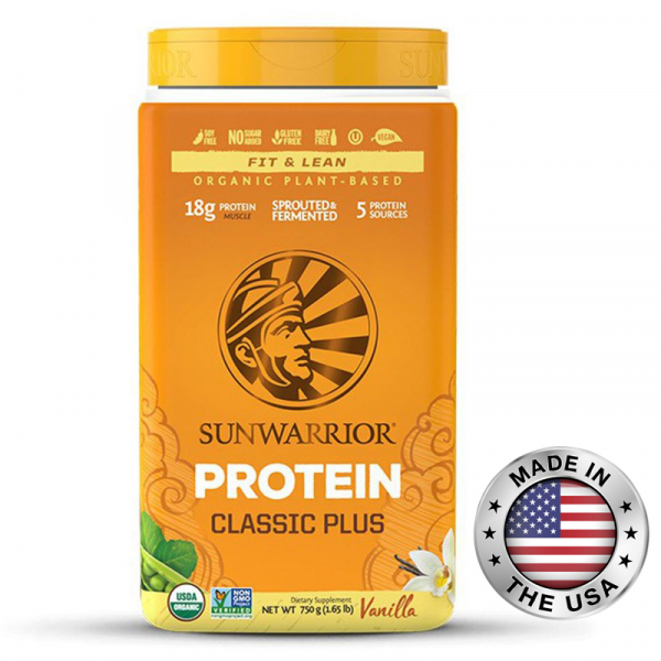 SUNWARRIOR protein plus 750 g - vanilka