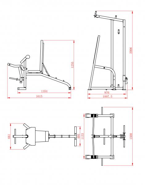 Posilovací lavice na bench press TrinFit lavice FX7_rozměry