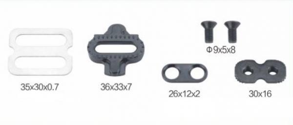 Pedály cyklistické s klipsnou JD-007 příslušenství