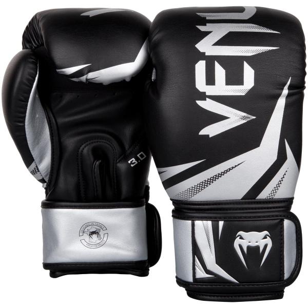 VENUM boxerské rukavice Challenger 3.0 černé stříbrné pair