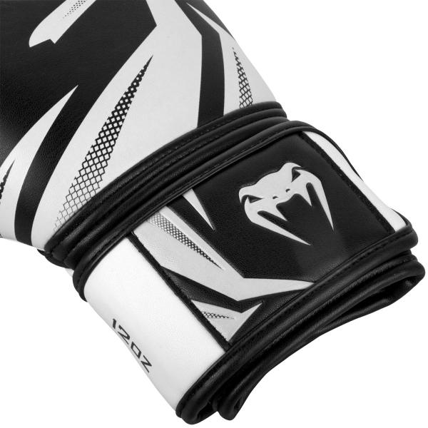 VENUM boxerské rukavice Challenger 3.0 černá bílá omotávka