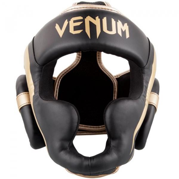Chránič hlavy Elite černý zlatý VENUM zepředu