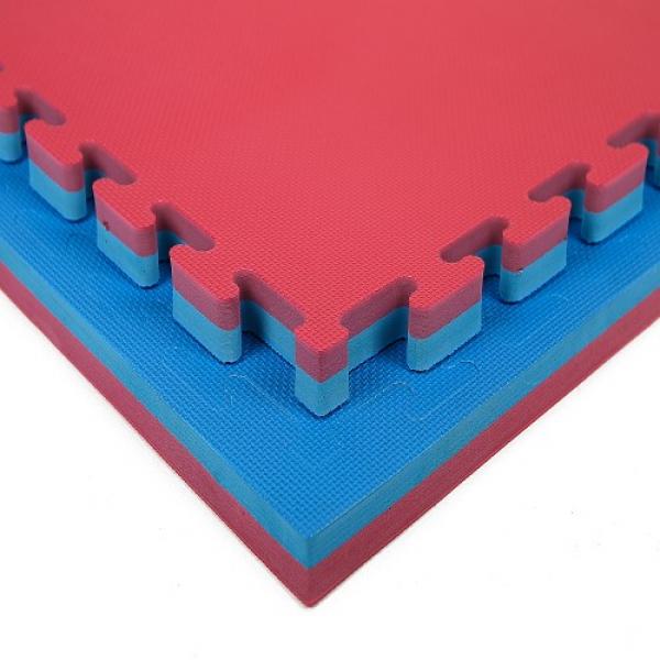 Tatami Economic 100 x 100 x 3 cm X-gym modro-červené detail 1